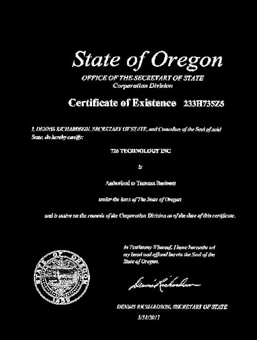 Secretary of State of Oregon